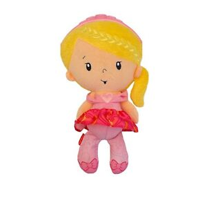 Fisher Price Princess Mommy Chime Blonde Doll Pink Tiara Rattle Soft Plush Toy