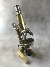 Messing Mikroskop, Ludwig Merker, Wien, um 1890