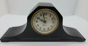 Antique Working 1920's SESSIONS 8 Day Wind-Up Mini Mahogany Tambour Mantel Clock