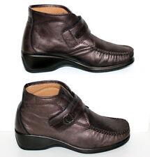 Aerosoft schöne Stiefeletten Boots Stiefel Gr.37 Echtleder Metallic Neuwertig
