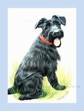 Dog Print Black Terrier by Irina Garmashova