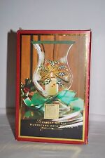Lenox Holiday Spirit Hurricane with Ribbon Crystal Candle Lamp