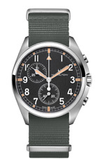Hamilton Khaki Aviation Pilot Pioneer Chrono Black Dial Men's Watch H76522931