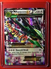 Pokemon card - M Rayquaza EX XY Roaring Skies Set 76/108 Ed 1st Mega Edition B&W