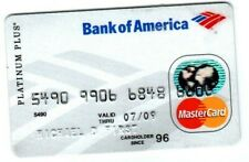 Expired Bank of America Platinum Plus Master Card Expire 07-09