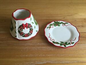 Yankee Candle Christmas Wreath Large Shade & Plate Set