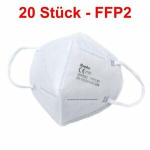 20 Stück FFP2-Atemschutzmasken, Mundschutz, Feinstaubmaske