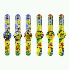 (6) POKEMON PIKACHU Children Slap on Band Digital Watches Birthday new no tags
