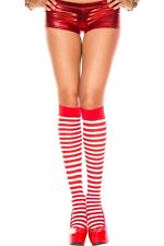 STRIPED OPAQUE Knee High Stockings O/S - 5 Color Combinations