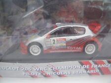 PEUGEOT 206 WRC #2 CHAMPION De FRANCE BERNARDI NOREV 1/43 RALLYE Edition Limitée