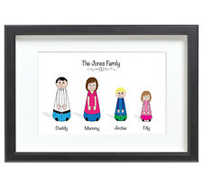 Personalised adaptable family name picture leaving birthday celebration gift