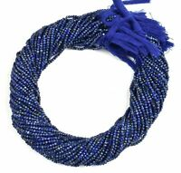 "5 Strand Natural Lapis Lazuli Faceted 2mm Rondelle Gemstone Beads 12""inch"