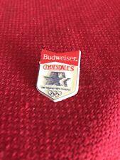 "1984 OLYMPICS BUDWEISER CLYDESDALES PLASTIC PIN SOUVENIR 1"" Tall (FB)"