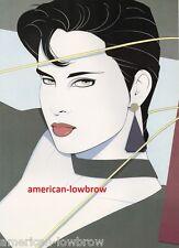 Retro 80s Patrick Nagel Playboy Art Poster Print Art Deco Pinup Girl Earrings