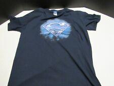 Superman Shirt Dark Blue Water & Sky Landscape Large L Dc Comics Adult