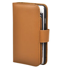 iPhone 6 Leather Wallet Purse Stand Case in Brown - By TRIXES