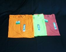 3 pc. Lot Men's Fruit of the Loom Safety Green Orange and Cantalou T-Shirt 4XL