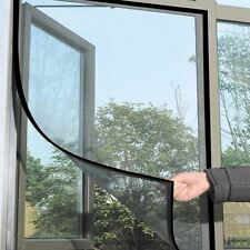 1.2m x 1m Window Screen Mesh Insect Net Fly Mosquito Bug Protection Door Black