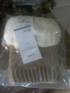 Fur Trim Gray Crochet Boot Toppers Cuffs by Mixit from JC Penney