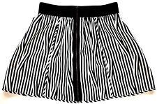 a62b5f26f705 Silence + Noise Urban Outfitters Black & White Striped Full Zipper Skirt S  EUC