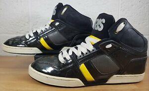 Osiris NYC 83 Skate Shoe Trainers Sz UK 12 Charcoal Grey/Black/Yellow Skateboard