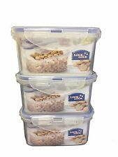 LOCK & LOCK Airtight Plastic Containers 470ml Pack of 3 HPL807