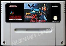 Castlevania Evil Trevor Dracula X SNES PAL Super Nintendo Vampire's Kiss Hack