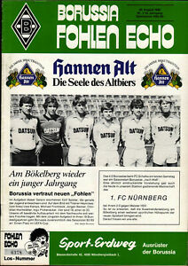 BL 82/83 Borussia Mönchengladbach - 1. FC Nürnberg, 25.08.1982