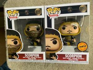 SCORPION CHASE Bundle Mortal Kombat Funko Pop Vinyls New in Mint Boxes + P/Ps