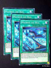 Set 3X MATRICE DEI BUG Matrix SHVI-IT064 Comune in Italiano YUGIOH