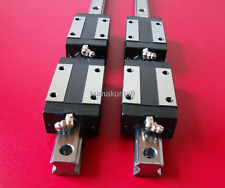 CNC Set 15-750mm 2 x Linear Guideway Rail 4 x Square type carriage bearing block