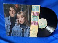 """Gene Clark & Carla Olson LP """"So Rebellious a Lover"""" Rhino RNLP 70832 RARE"""