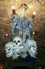 High End Quality Large Skull and Bones  Chandelier -Ultimate Halloween Prop!
