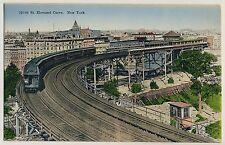 New york 110th St elevated Curve/tren elevado ferrocarril Railway * vintage 1910s PC