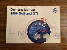1999 VW Golf and GTI Owners Manual-Fast Free Shipping!