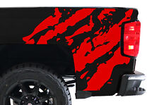 Custom Vinyl Decal Ripped Wrap Kit for Chevy Silverado Truck 1500/2500 14-17 RED