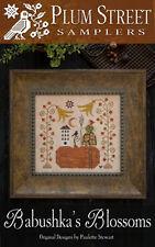 Babushka's Blossoms Autumn Pumpkin Plum Street Samplers Cross Stitch Pattern