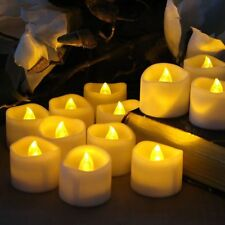 12PCS Flameless Votive Candles Battery Operated Flickering LED Tea Light Warm