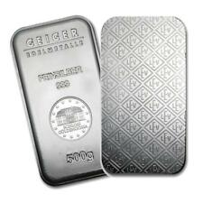 One piece 500 gram 0.999 Fine Silver Bar Geiger Security Line Series. Lot 8201