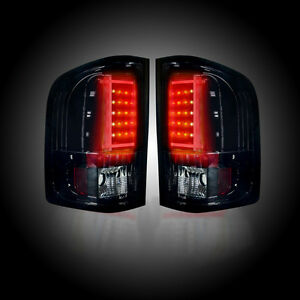 Recon SMOKED LED Tail Lights for Chevy Silverado & GMC Sierra Dually 07-14