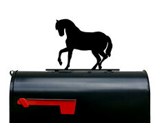 Horse Silhouette Mailbox Topper / Sign - Powder Coated Steel  - USA Made