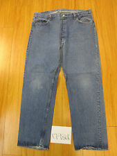 destroyed levi feathered 501 grunge jean tag 42x34 meas 38x30.5 17986F