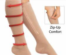 Zippered Compression Socks Support Stockings Leg Calf Men's Women's Sock (S-XXL)