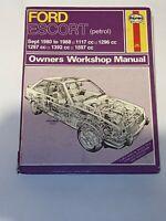 FORD ESCORT MK3 & 4 HAYNES MANUAL 1980 to 1988