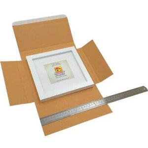 25 Brown kraft cardboard book mailer - 250 x 250 x 15mm - multicrease box