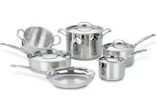 Cuisinart Stainless Steel Cookware - 10 Pc Chef's Classic Cookware Set