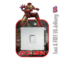 IRON MAN MARVEL AVENGERS LIGHT SWITCH SURROUND WALL STICKER DECAL