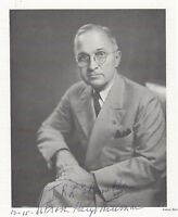 Harry Truman, America's 33rd President, Inscribes Print of Bachrach Photograph