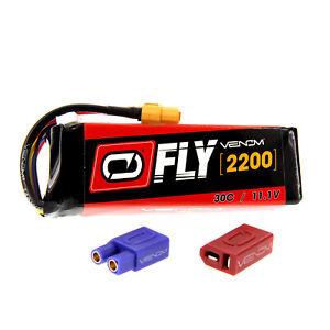 E-flite Slick 3D 480 30C 3S 2200mAh 11.1V LiPo Battery w/ UNI 2.0 plug by Venom