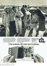 PUBLICITE ADVERTISING 016  1971  POLAROID  appareil photofilm Colorpack 80